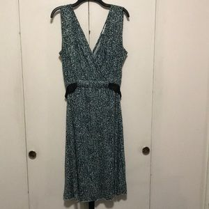 Nine West print dress with tie detail